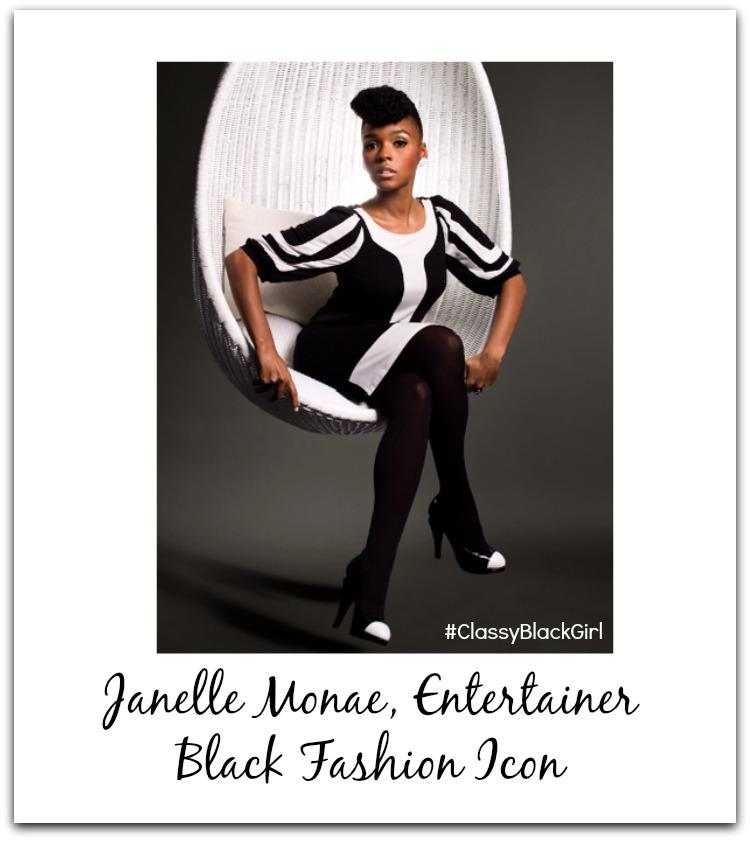 Janelle Monae Classy Black Girl Black Fashion Icon