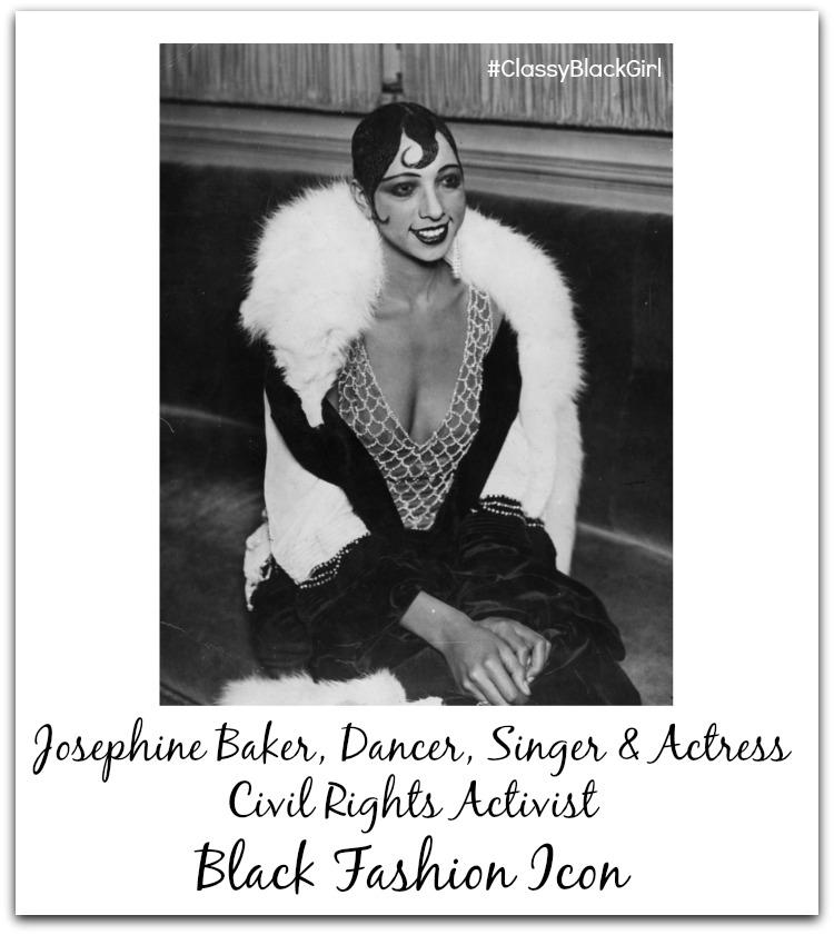 Josephine Baker Classy Black Girl Black Fashion Icon Black History Month