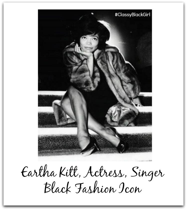 eartha kitt black fashion icon classy black girl