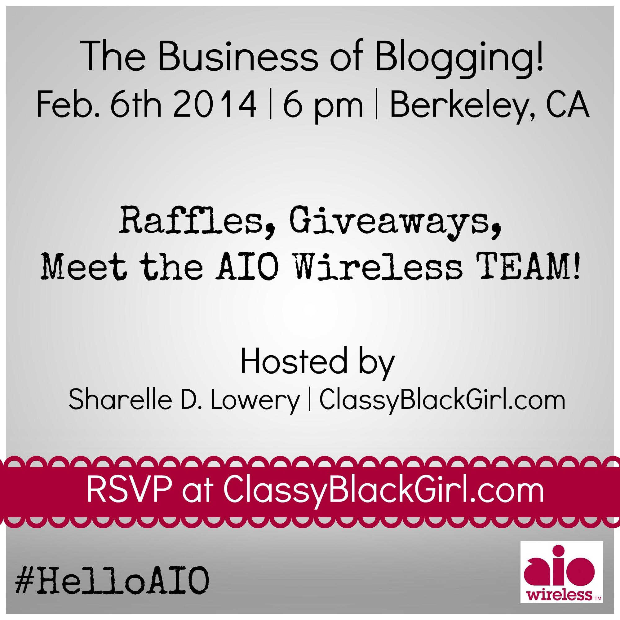 business of blogging AIO Wireless ClassyBlackGirl