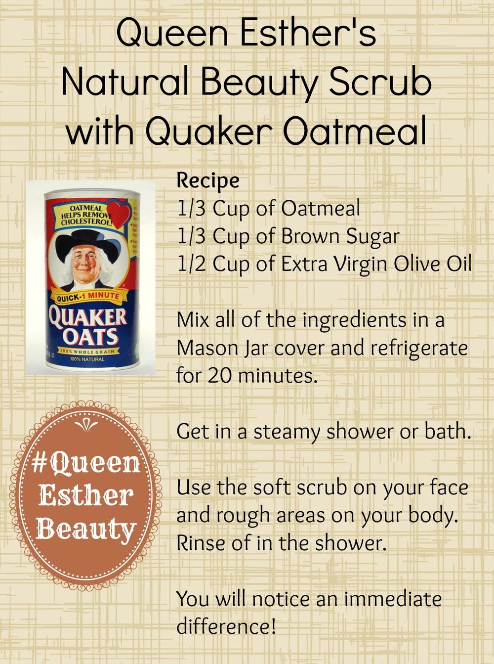 #QueenEstherBeauty ClassyBlackGirl.com Quaker Oatmeal Oats Skin