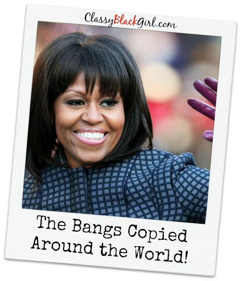 first lady michelle obama bangs classy black girl USE