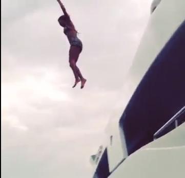 Beyonce Dives Jumps