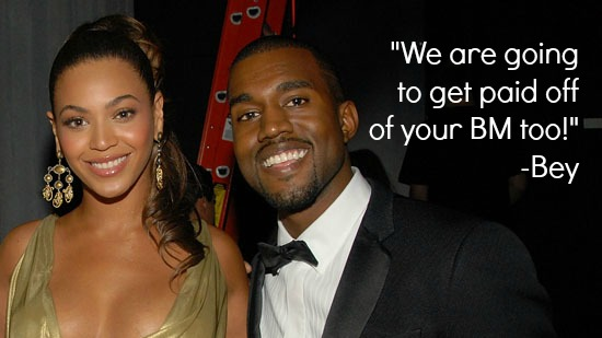 Beyonce and Kanye West Drunk in Love