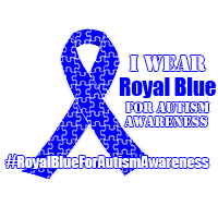 #RoyalBlueForAutismAwareness Monika Brooks