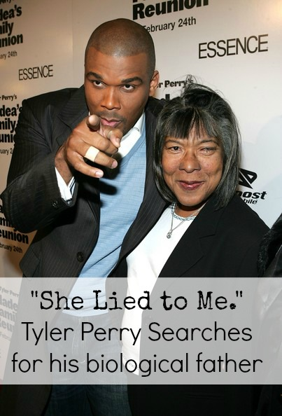 Tyler Perry Searches for his biological father after finding out via a DNA test that his mother had lied to him about his father USE