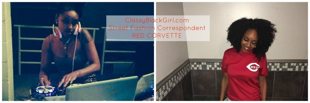 Red Corvette Street Fashion Correspondent Classy Black Girl
