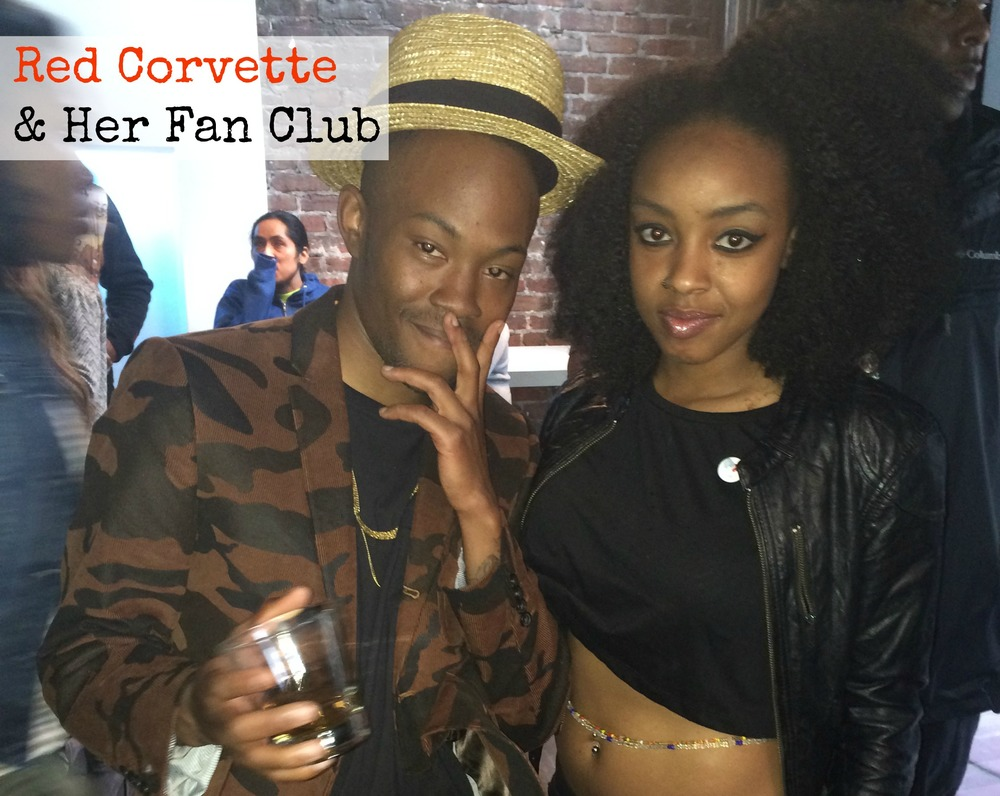 street fashion red corvette classy black girl Hero