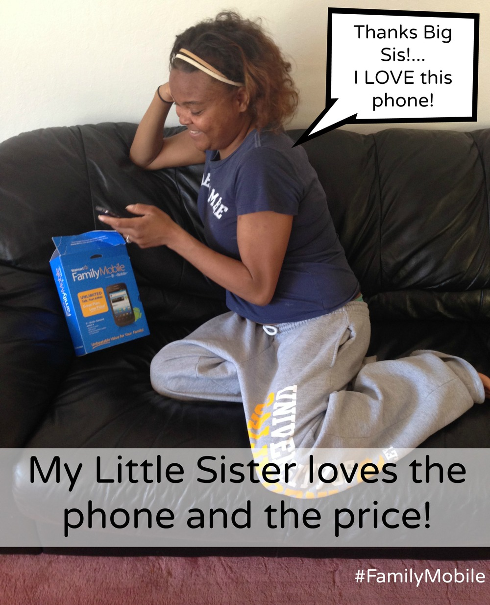 Sharne couch, Lowest Price Unlimited Plan, #FamilyMobile
