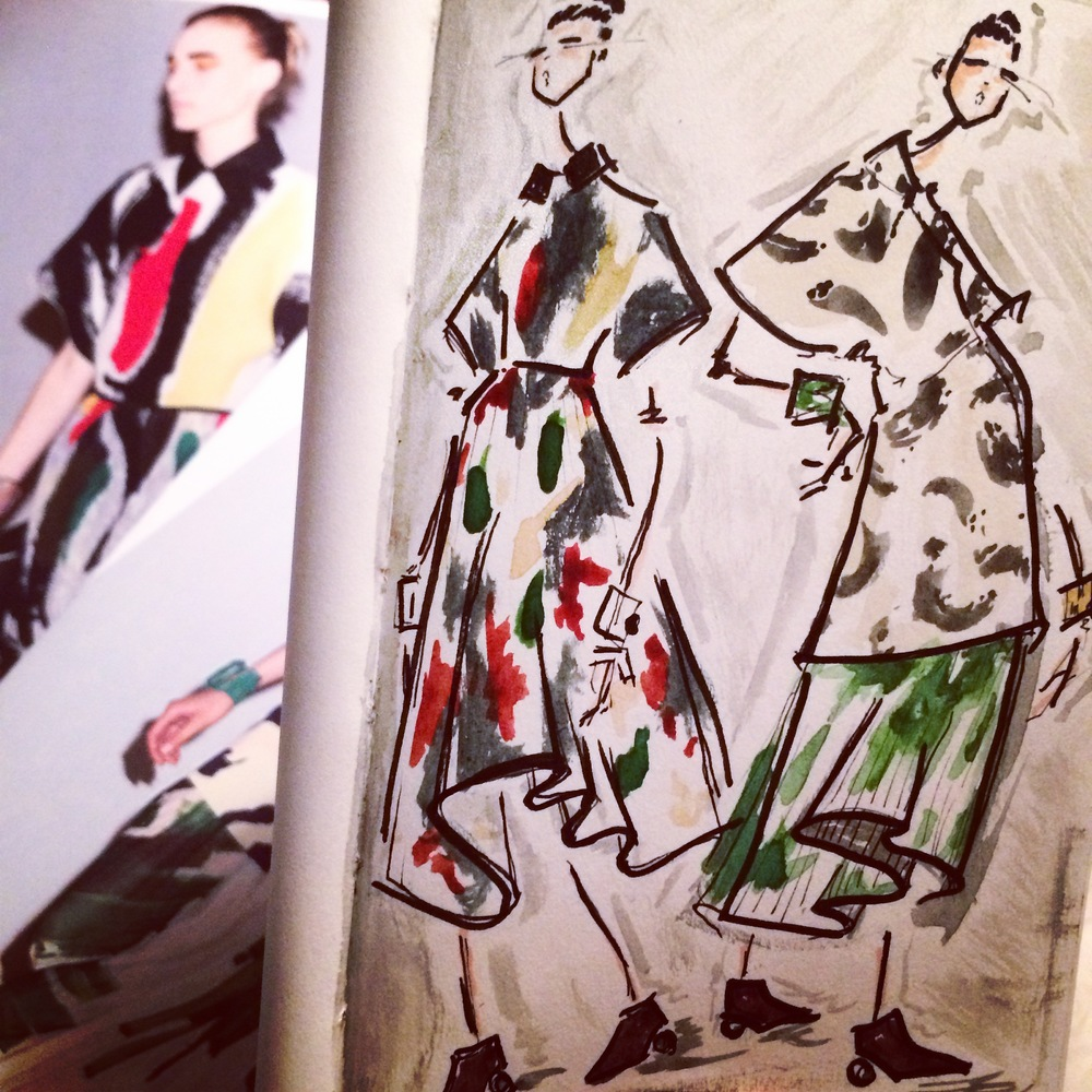 Some painterly sketches inspired by Celine S/S 14
