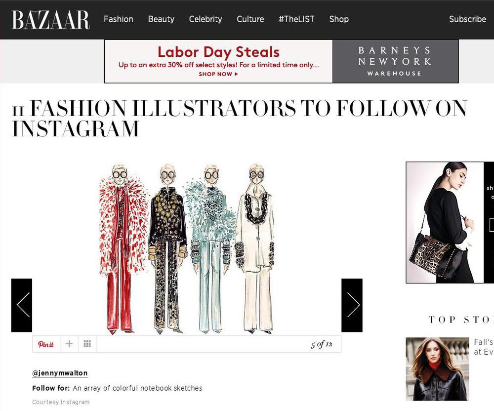 Harpers Bazaar, Sept 2014