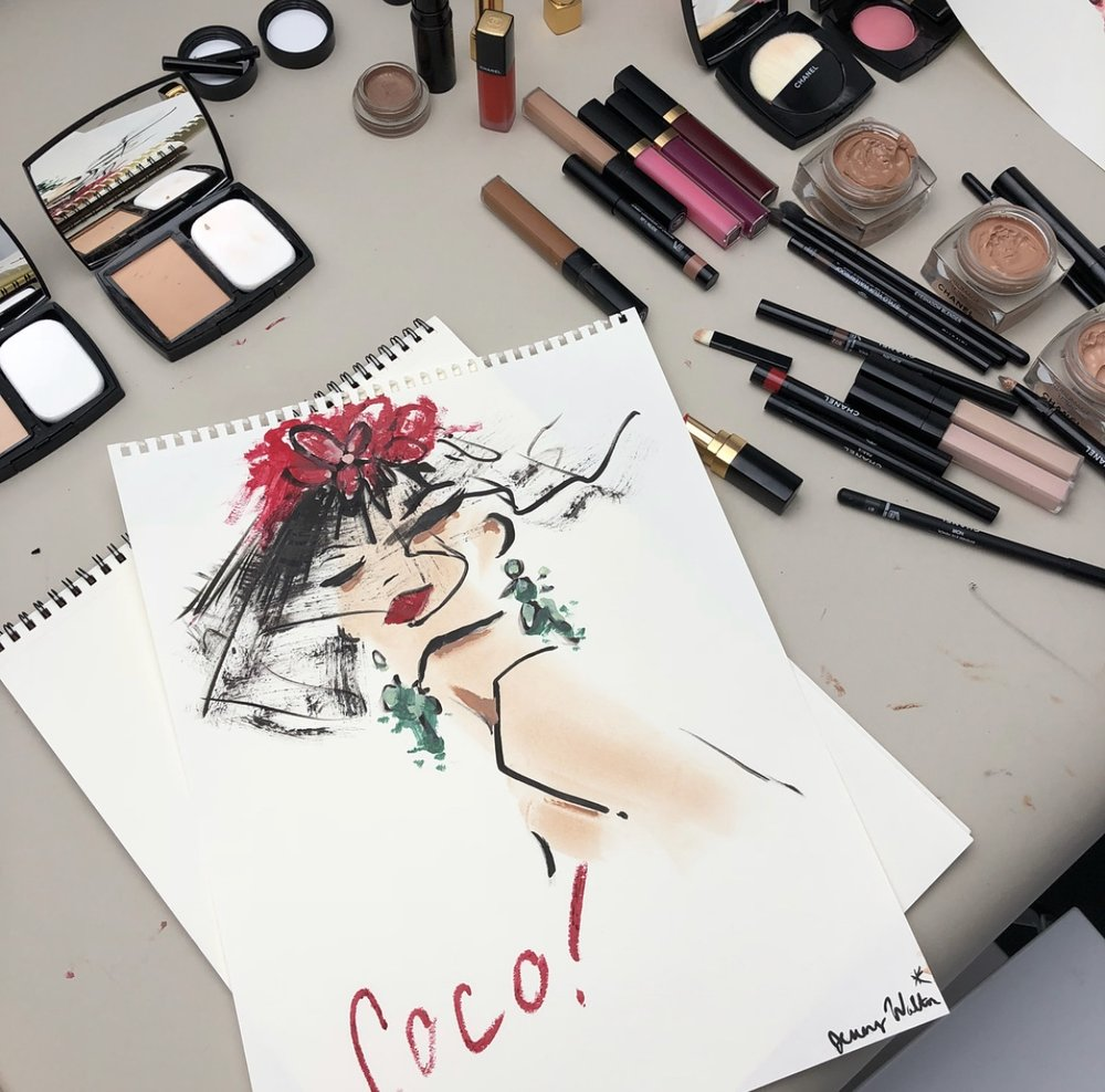 Chanel Drawing with Makeup, 2018