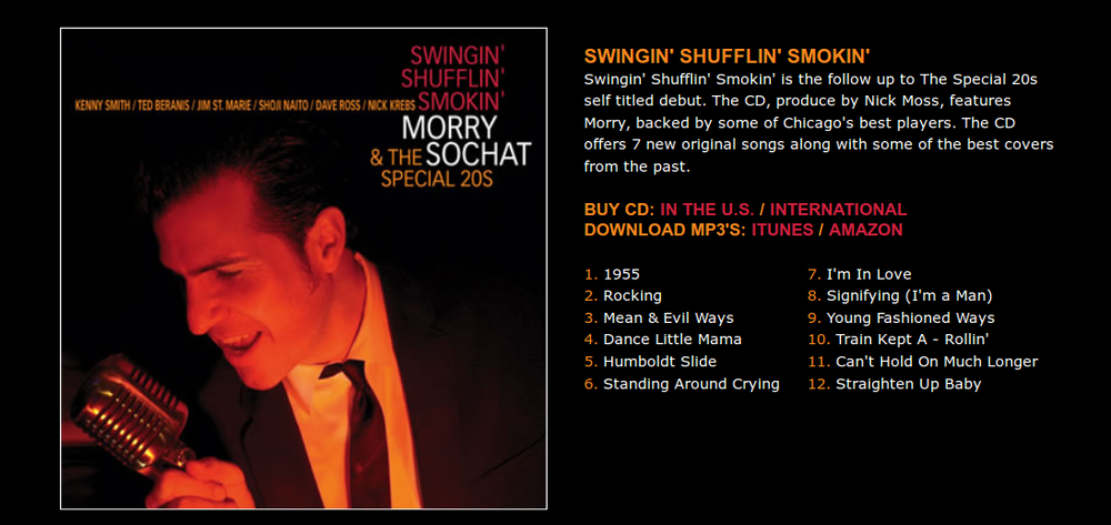 Humboldt Slide was featured on Special 20s' Swingin' Shufflin' Smokin' Album
