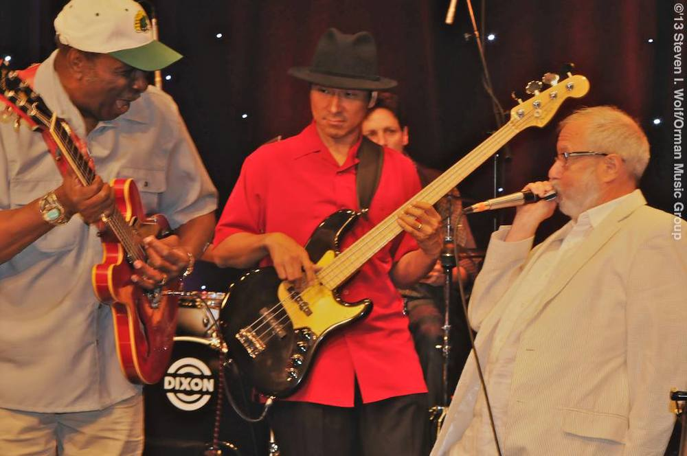 Eddy Clearwater, Shoji & Corky Siegel  photo by Steven I. Wolf
