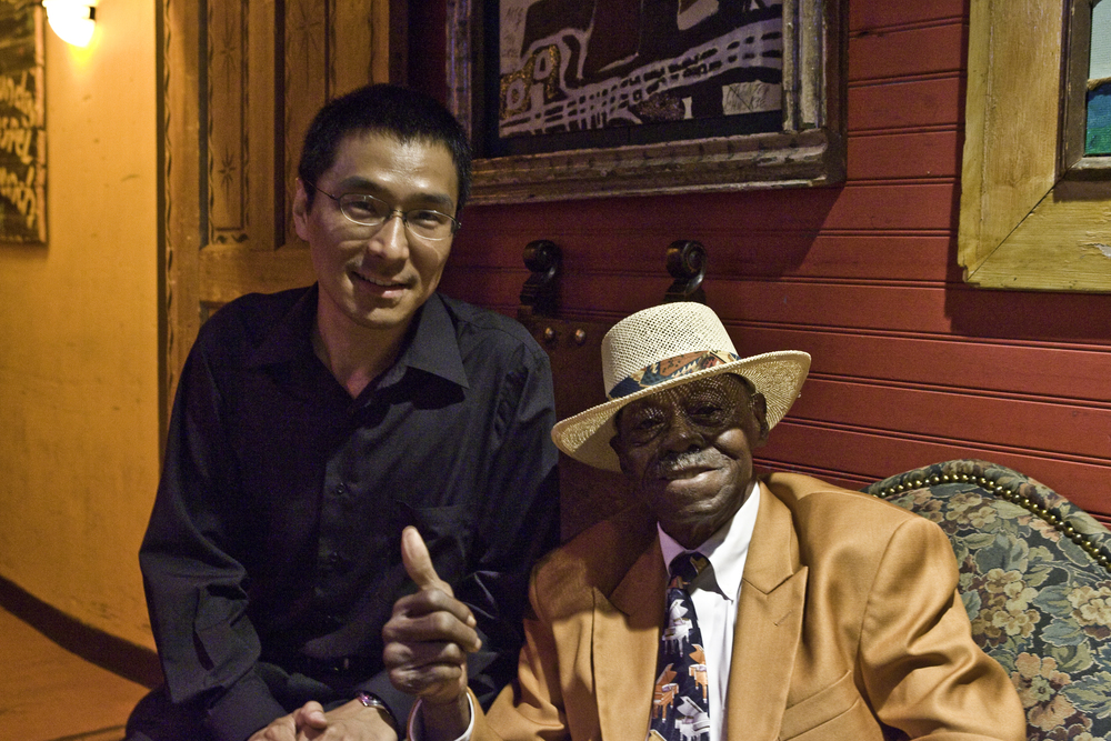 Shoji and Pinetop Perkins  Photo by Highway Rickey
