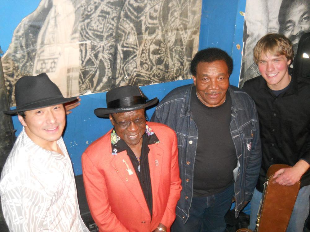 Shoji Naito, Bob Stroger, Willie Buck and Thaddeus Krolicki