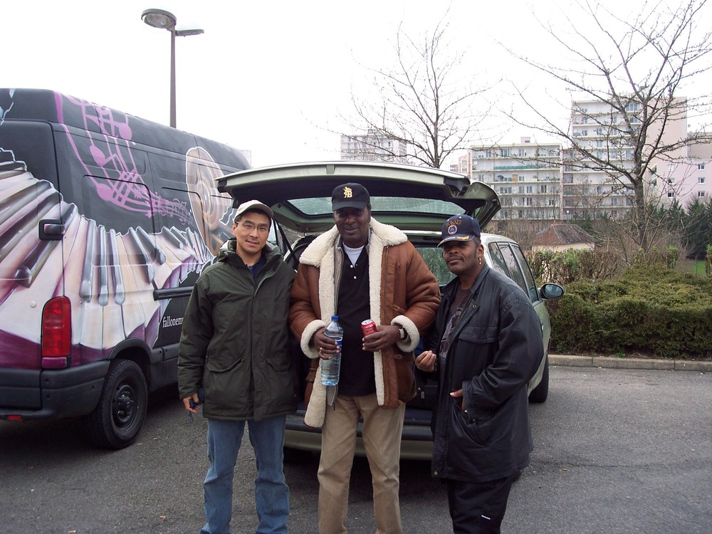 Shoji, Eddy Clearwater and Charlie Love in France
