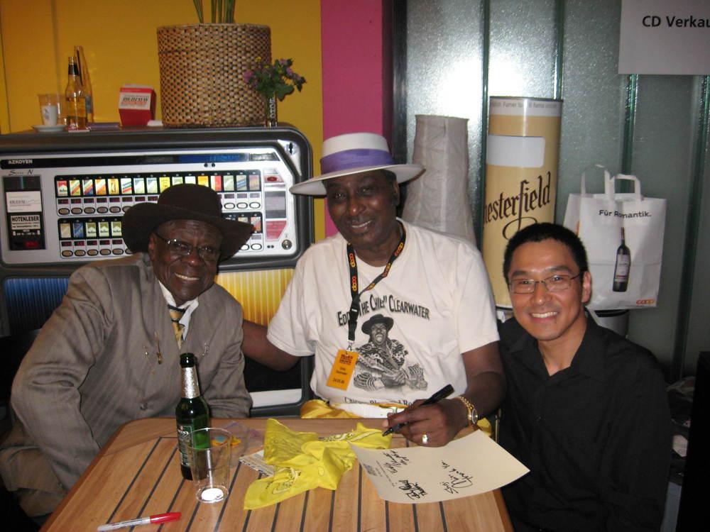Bob Stroger, Eddy Clearwater and Shoji