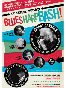 Shoji was the music director for Joe Filisko's t he Sixth Annual Chicago Blues Harp Bash in 2013