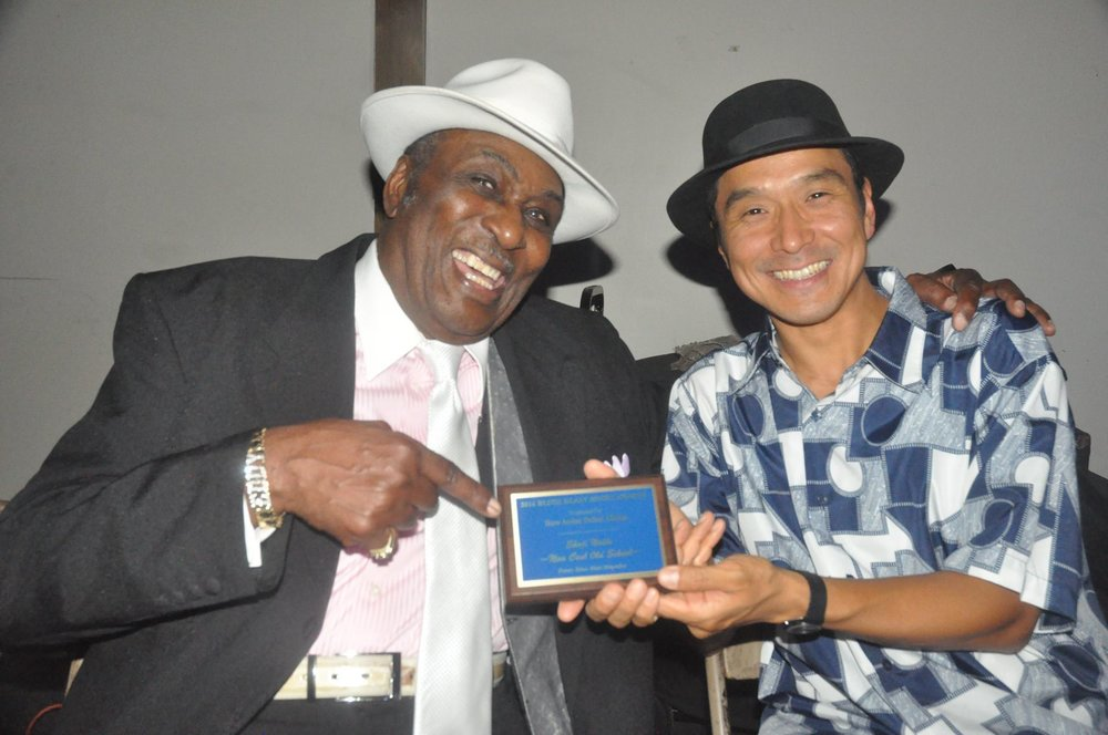 with Eddy Clearwater at Blues Blast Award