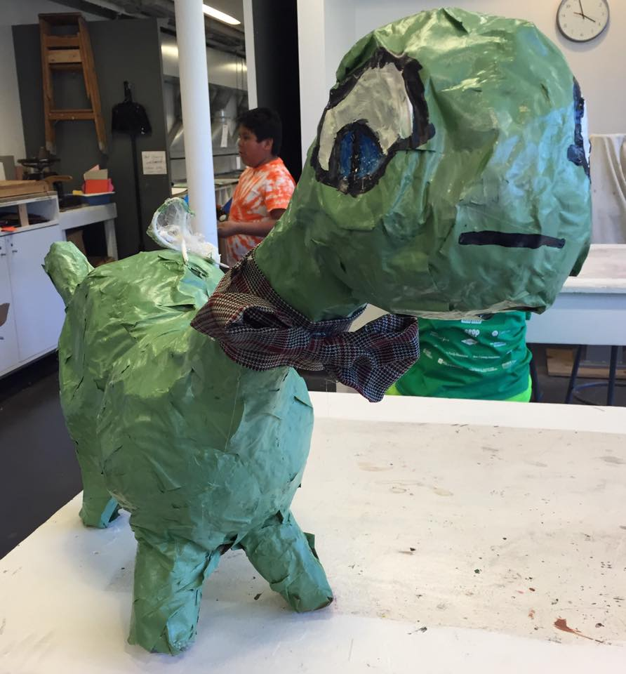 Papier-Mache Pinata Pets - Sculpture Project for grades 4-6. Students build pinatas using balloon and cardboard form.