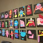 Moody Monsters  - Collage project for Kindergarten-Grade 1.  Students use paper scraps to create monsters that express different emotions. Glad Monster Sad Monster by Ed Emberley is read for inspiration.