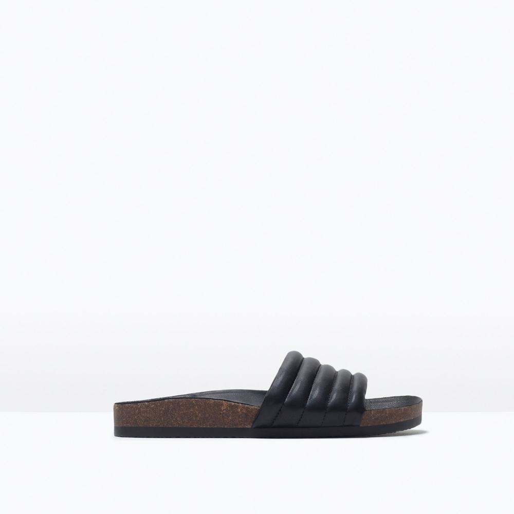Zara quilted wide stap sandals: find here
