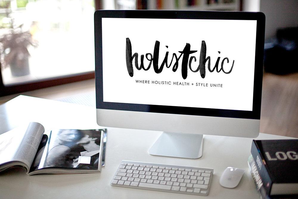 custom brush lettered logo