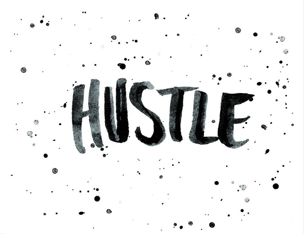 hustle | custom lettering