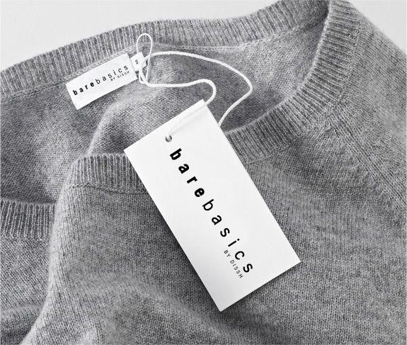 bare basics label design