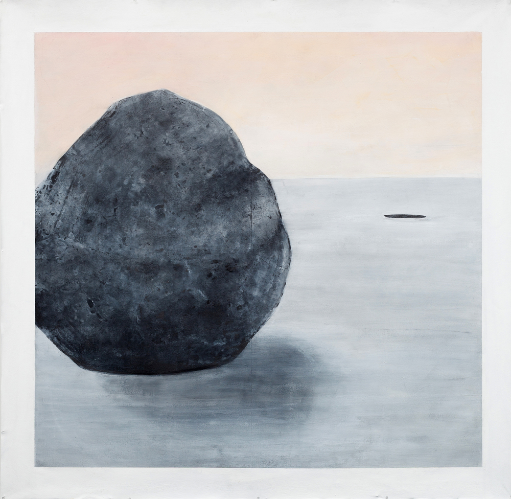 Large Drawing (rock)    Graphite, Gesso, Gouache,  72x72""