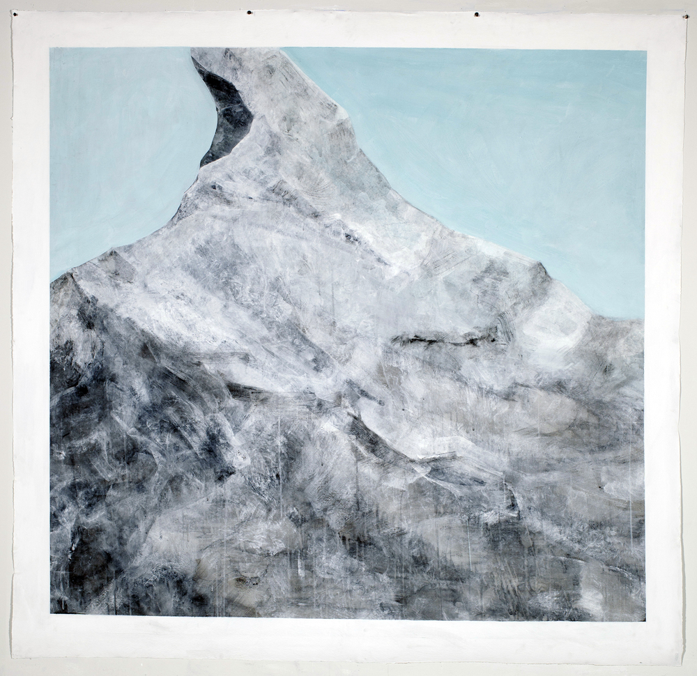 Large Drawing (iceberg)    Graphite, Gesso, Gouache,  72x72""
