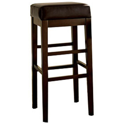 square bar stool with black leather seat cushion rentquest