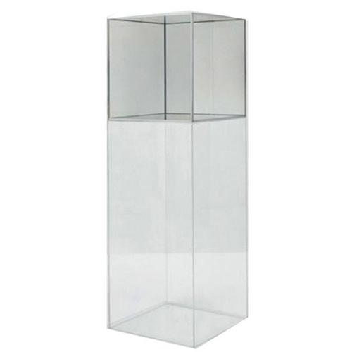 plinth medium stand clear pedestal yageli acrylic round pedestals