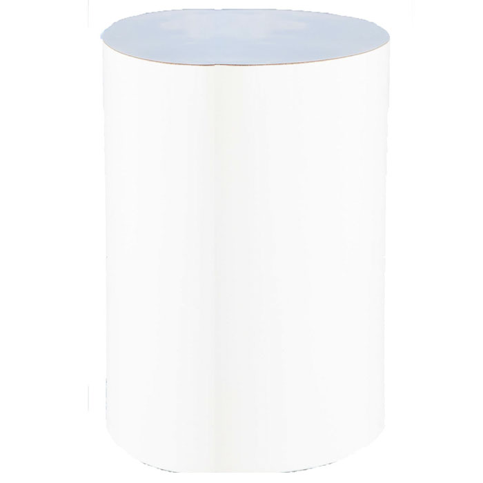 WHITE GLOSS CYLINDER SIDE TABLE