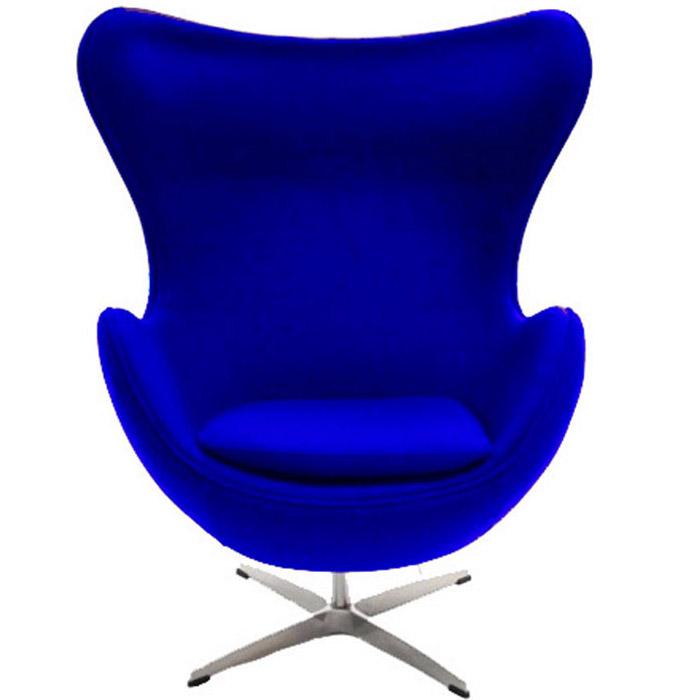 INNER EGG CHAIR IN BLUE FABRIC