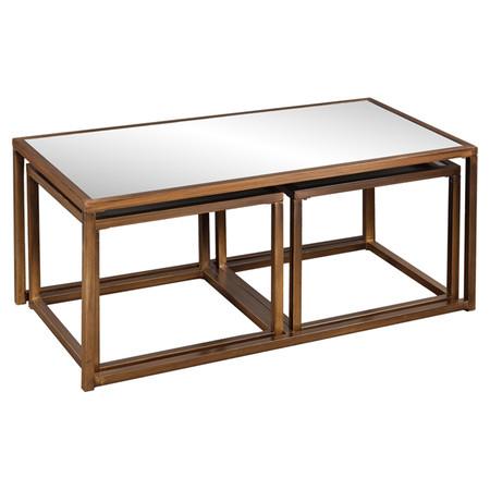 Pleasing Antique Bronze Mirrored Nesting Table Rentquestnyc Beatyapartments Chair Design Images Beatyapartmentscom