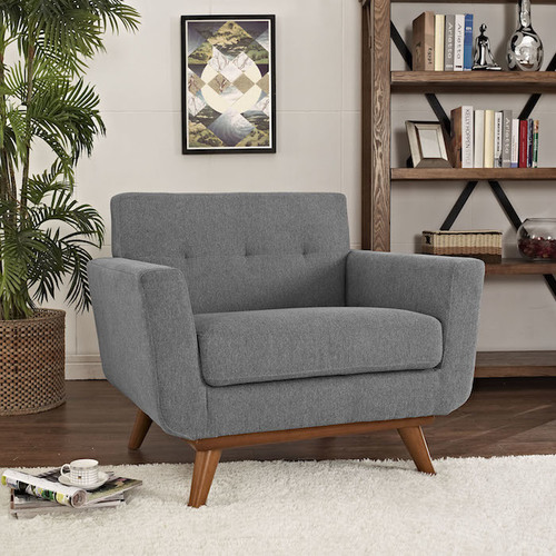 LIGHT GREY ATOMIC ARMCHAIR