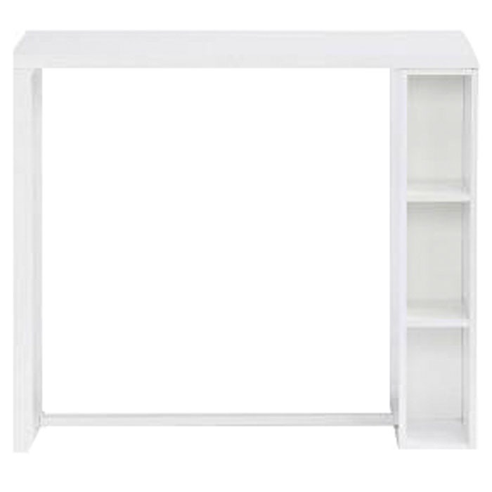 WHITE GLOSS BAR TABLE WITH STORAGE