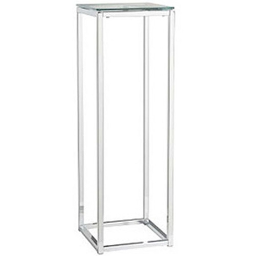Chrome Pedestal Table With Glass Top Rentquest