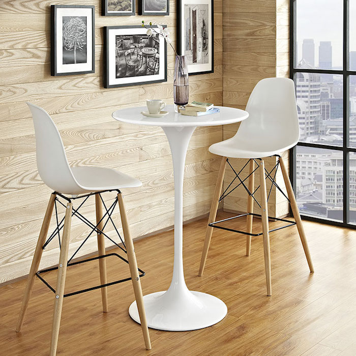 WHITE TULIP BISTRO TABLE