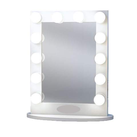 HOLLYWOOD VANITY MIRROR-WHITE — RentQuest