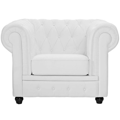 White Chesterfield Armchair Rentquest