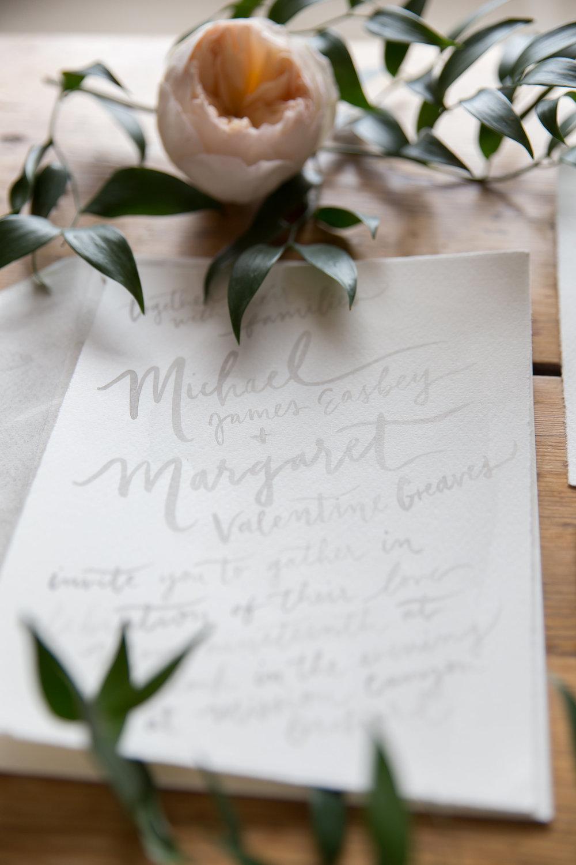 Wedding inspiration invitation by Joya Rose