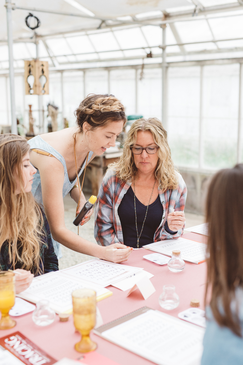 Joya Rose Brush Lettering Workshop - photo by Anna Delores Photography