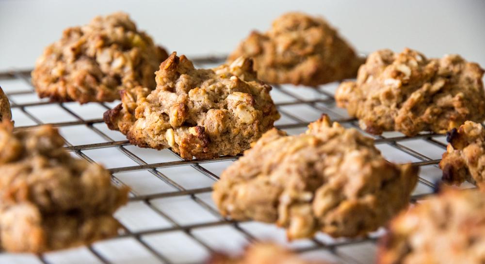 Peanut Butter, Banana & Oat Cookies
