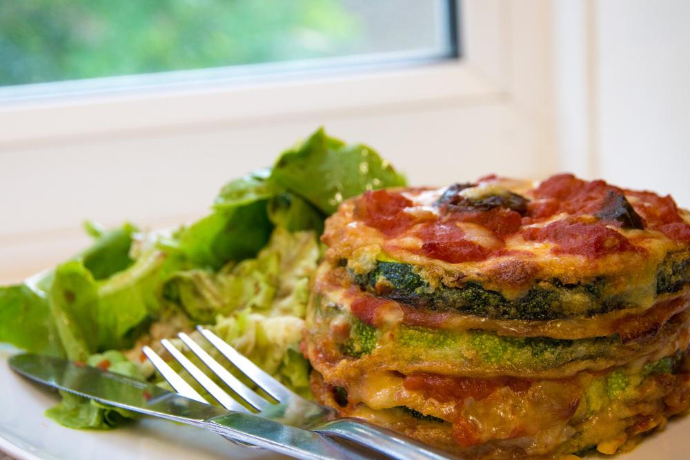 Zucchini, Mozzarella & Zucchini Stacks