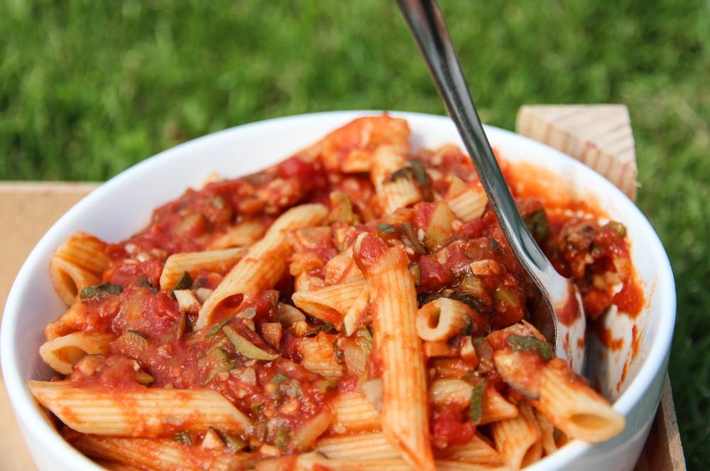 Mushroom & Zucchini Pasta