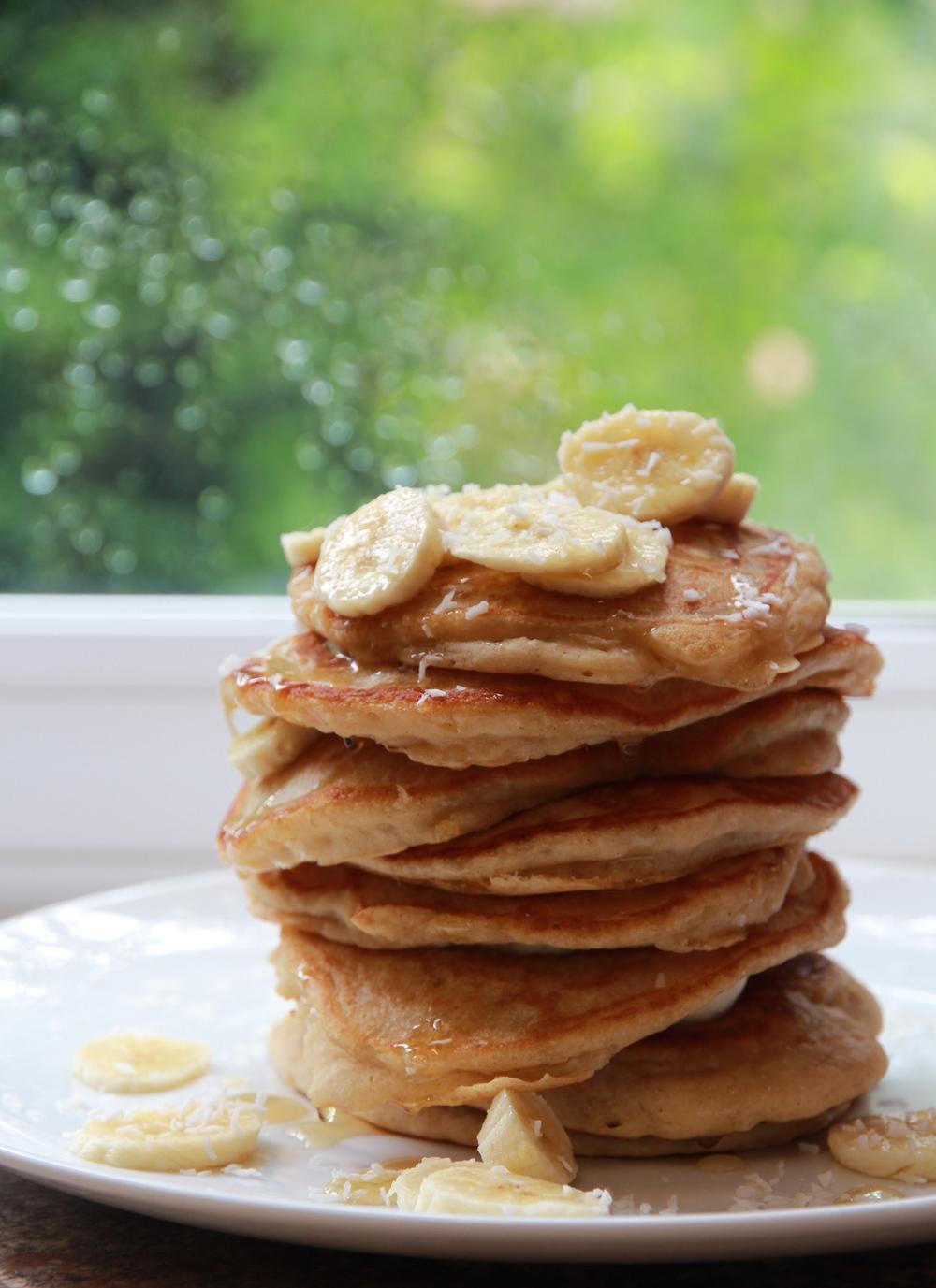 Banana & Coconut Pancakes