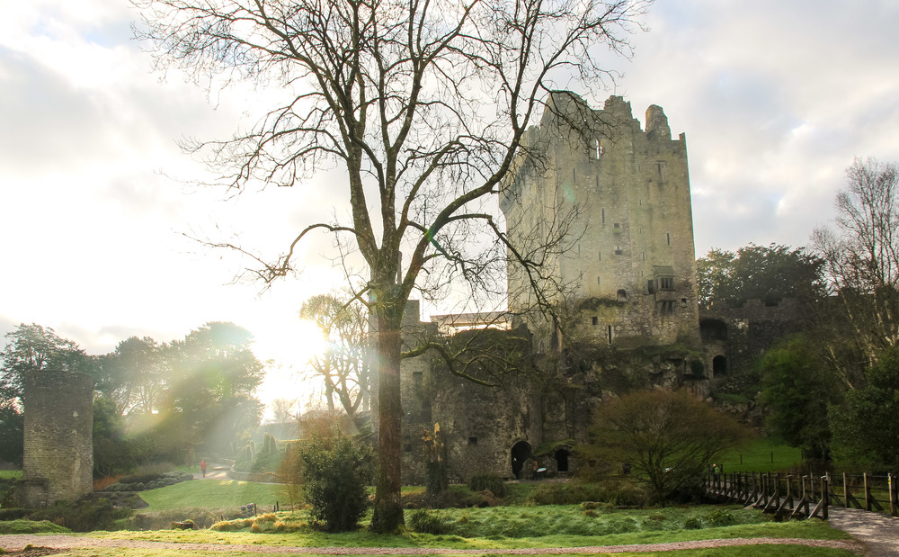 Blarney Castle, where stones were kissed.